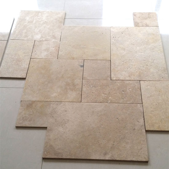 China Limestone French Versaille Pattern Travertine Floor Tile
