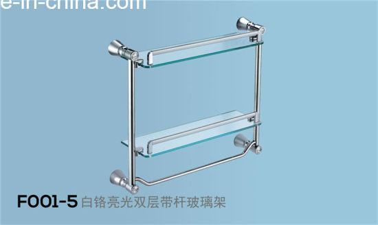 China Chrome Glass Towel Shelf/ Double Steel Glass Layer (F001 ...