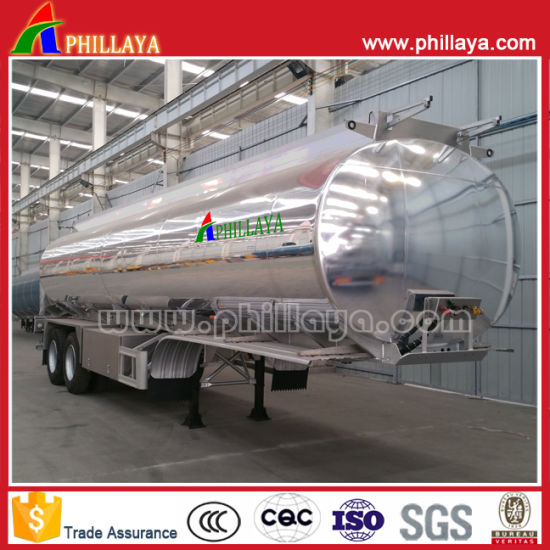 Aluminum Alloy Tanker Semi Trailer with Tank Mirror Polishing pictures & photos