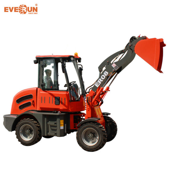 Everun Brand CE Approved 0.8 Ton China Small Wheel Loader