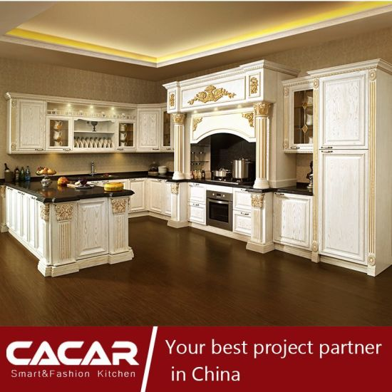 The King Returned II Luxurious Solid Wood Kitchen Cabinet (CA14-03) pictures & photos