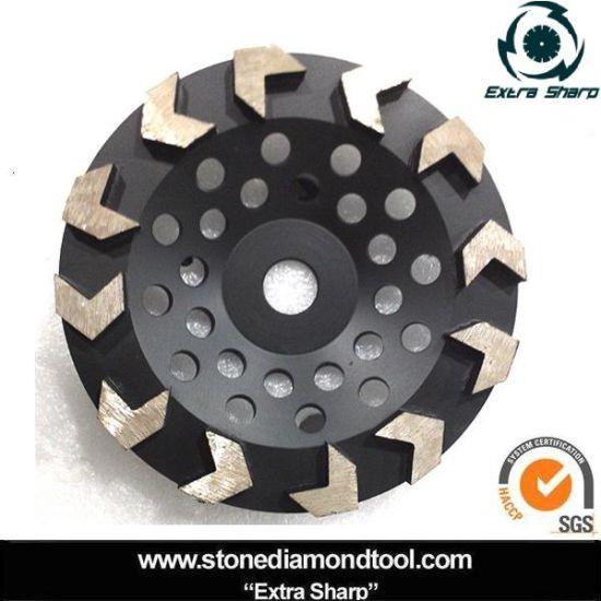 "4/"" Resin Metal Diamond Grinding Cup Wheel Medium Grit Granite Concrete Stone"