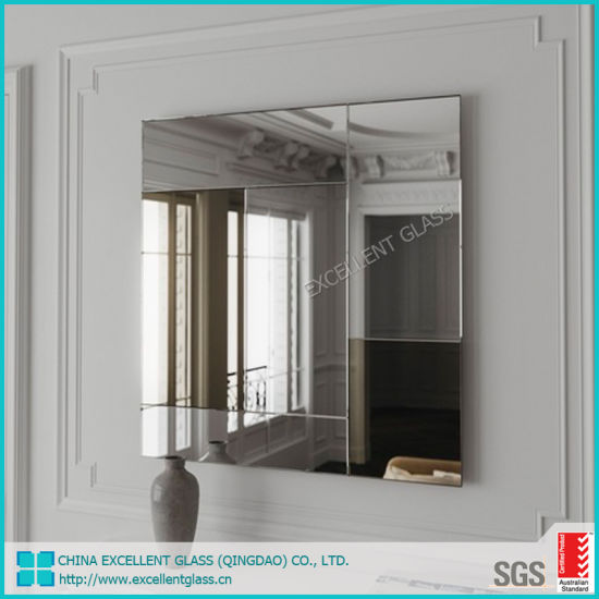 Double Coated Safety Clear/Silver/Aluminium/Bathroom/Decorative/Antique/Solar Copper Lead Free Excellent Mirror