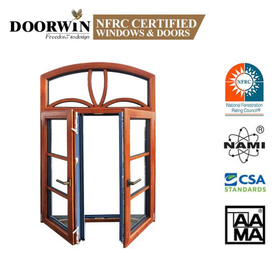Australian Standard As2047 European and America Standard Latest Designs Aluminum Clad Wood Casement Windows with Full Divided Lites