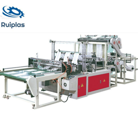 High Speed Plastic Vest Opend Flat Bag Sealing and Cutting Machine