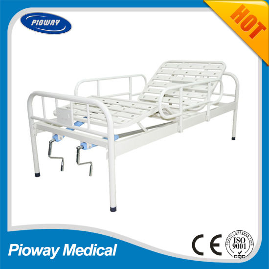 Hospital Powder Coated Bed, with Guardrail, Two Crank (PW-B03)