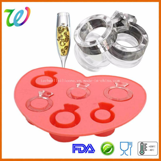 Factory Wholesale Diamond Shape Silicone Ice Cube Mold Tray