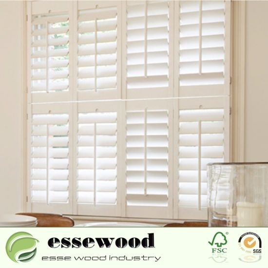 Wholesale Customized Plantation Window Shutters with Different Material of Wood / Vinyl