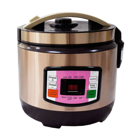 Stainless Steel Golden Kitchen Equipment Braille Talking Mini Slow Electric Rice Cooker Ce