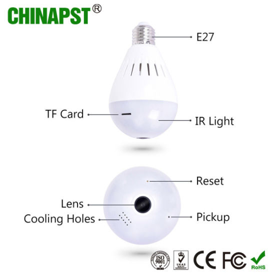 China Smart WiFi 360 Degree 3D Vr Panorama Bulb Camera (PST-VR20B1
