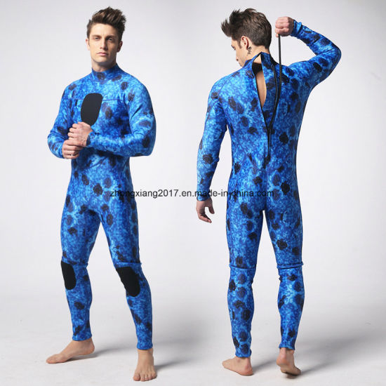 Long Sleeved Neoprene Wet Suits Sublimation Surfing Diving Suit