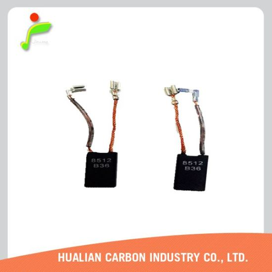 1pair of Armature Electric Motor Carbon Brush with 2 Nickel Plating Terminal/Carbon Brush for Machine Transmission Parts/Traction Motor Carbon Brushes pictures & photos
