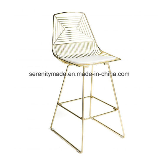 China Bar Furniture Stackable Metal Wire High Bar Stools And Table