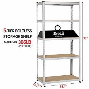 Supermarket/Warehouse Steel Metal Heavy Adjustable Rivet Rack Shelving