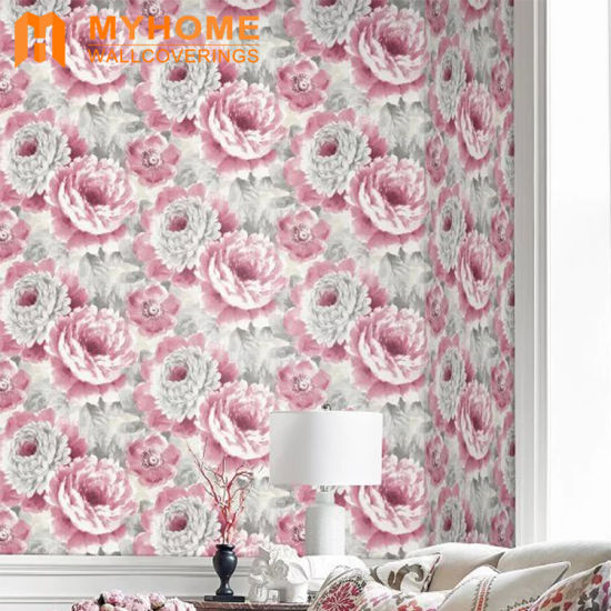 Natural Floral Scenery Design Non-Woven Back Pure Paper Wall Paper Wallpaper Price pictures & photos