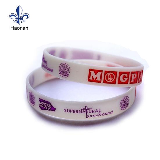 Professional DIY Fashion Style Silicone Wristband with Logo