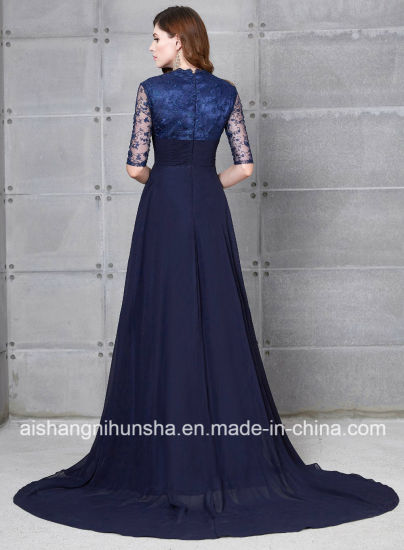 Chiffon Long Evening Dress Mother of The Bride Dress pictures & photos