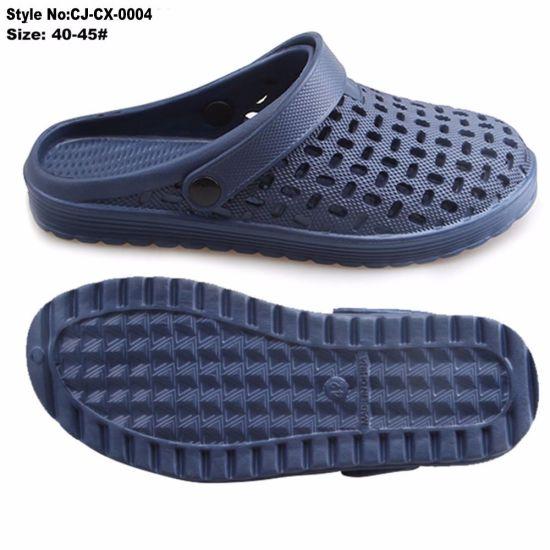 96a54847fa64c China Wholesale EVA Material Small Hole Men Clog Slippers - China ...