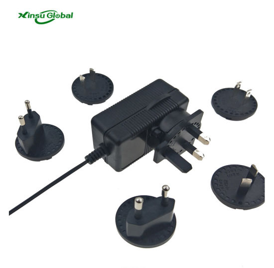 Xinsu 5V 9V 12V 15V 18V 24V 36V 48V 18W 24W 36W 65W Interchangeable Plugs AC DC Power Adaptor Swithing Power Supply