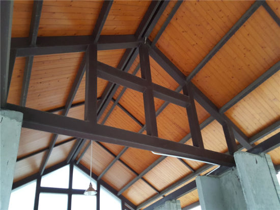 China Rectangular Tube Steel Structure Frame Roof Truss With Glass For Restaurant China Steel Structure Frame Steel Roof Truss