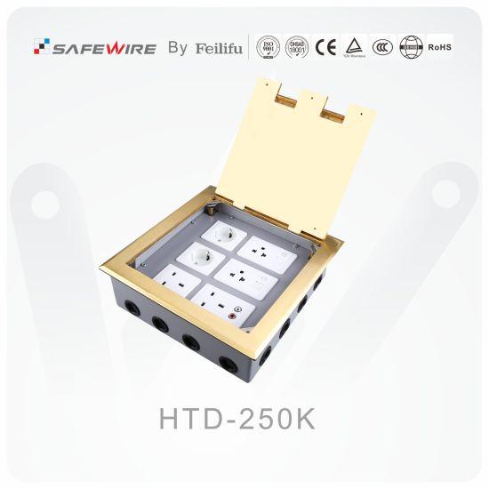 Electrical Floor Receptacle/Power Socket/Open Type Floor Socket with 18 Ways