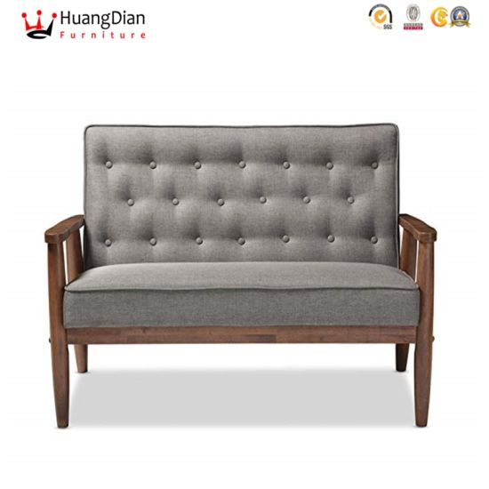 Wholesale Custom Fabric Tufted Restaurant Cafe Dining Double-Seat Chair pictures & photos