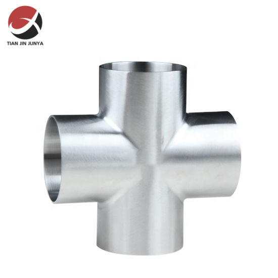 Sanitary Factory Direct Stainless Steel 304 316 Weld Short Equal Cross Pipe Fitting Used in Brewery Industries or Drink Industries, Wine Tank Accessories