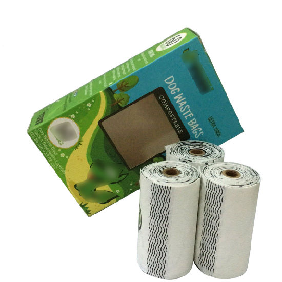 Biodegradable Pet Dog Waste Poop Bags on a Roll with Refills Dispenser