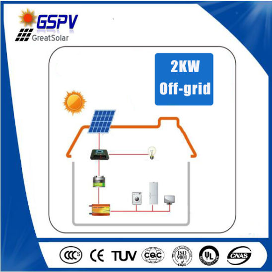 2kw Independent Solar System for Home Use pictures & photos