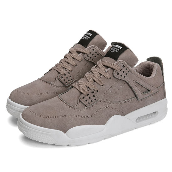 Breathable Leather Men's and Women Fashion Casual Sport Sneaker Air Cushion Running Shoe Low MOQ for Sale Fast Delivery