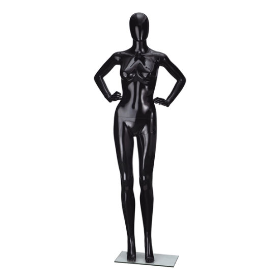 China High Grade Plastic Lady Mannequin Painting Color Shiny