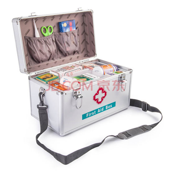 China Large Size Aluminum First Aid Kit for Home Household