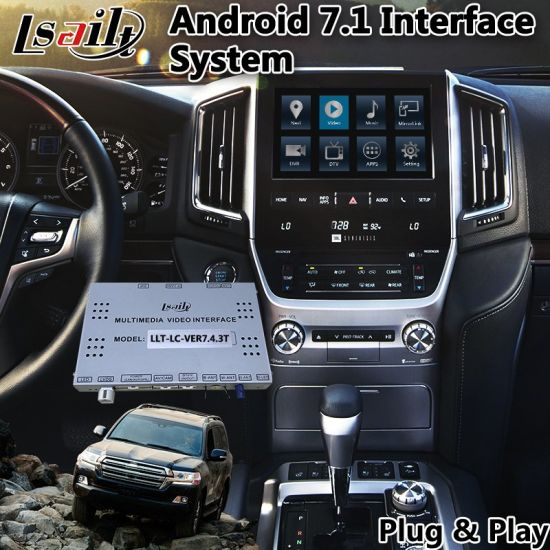 GPS Android Navigation Interface for 2015-2018 Year Toyota Land Cruiser pictures & photos