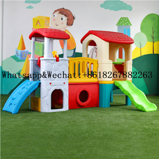 Plastic Slide for Kids Indoor Playground Small Slide Children′s Plastics Sliding Toys Blowing Playground pictures & photos