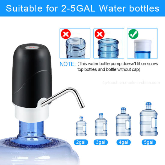 Hot Sell Bottle Drinking Portable Mini Electric USB Rechargeable Water Pump Dispenser Wd02