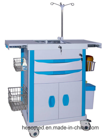 HS-Pet002L Utility Equipment Emergency Furniture Medical Hospital Trolley Price pictures & photos