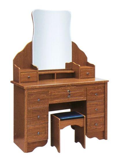 China Mdf Dressing Table Melamine Pvc Finish New Design Mirror Stand