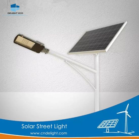 Delight Hot-DIP Galvanized Steel Outdoor Solar LED Street Lamp pictures & photos