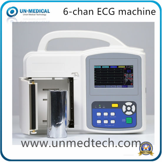 12 Leads Six Channels ECG EKG Electrocardiograph Machine with PC Software