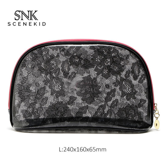 Fashion Custom Logo Personalized Luxury Portable Makeup Bag, Travel Women PVC Makeup Cosmetic Bag