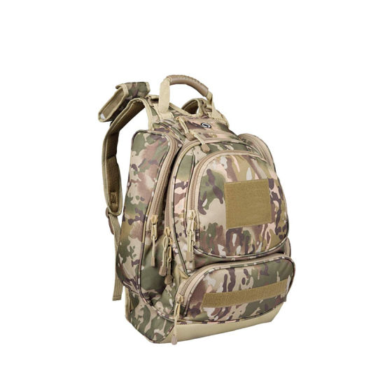 Camo Military Heavy Duty Hydration Backpack with Laptop Compartment, Water Resistant 3 Day Hiking Rucksack, 40 Liter Large (Bladder no Included)