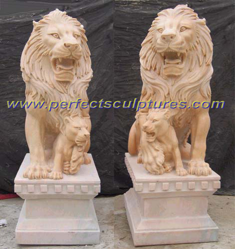 Stone Granite Marble Lion for Garden Sculpture Animal Statue (SY-D039) pictures & photos