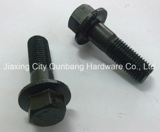 Black Flange Bolts (ASME B18.2.3.4m M5-M16 Cl. 10.9)
