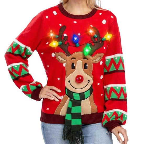 Christmas Sweater with LED Lights Xxxxl Christmas Jumper with LED Lights