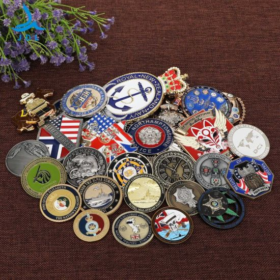 Factory Custom 3D Antique Gold Bronze Metal Logo Craft Medal Replica Silver Old NBA Us Indian Souvenir Gift Police Military Enamel Commemorative Challenge Coins