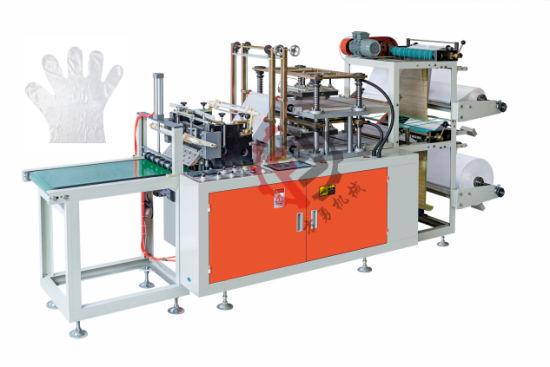 Double Layer PE Plastic HDPE LDPE TPE Glove Making Machine