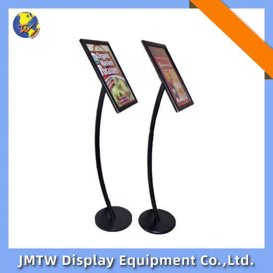 High Quality Metal Poster Stand Menu Board for Publicity with Snap-Open
