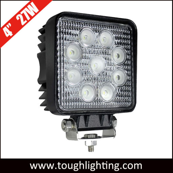 E-MARK LED Auto Lights 4 Inch Square 15W/18W/24W/27W/48W Epistar LED Truck Tractor Work Light Lamps