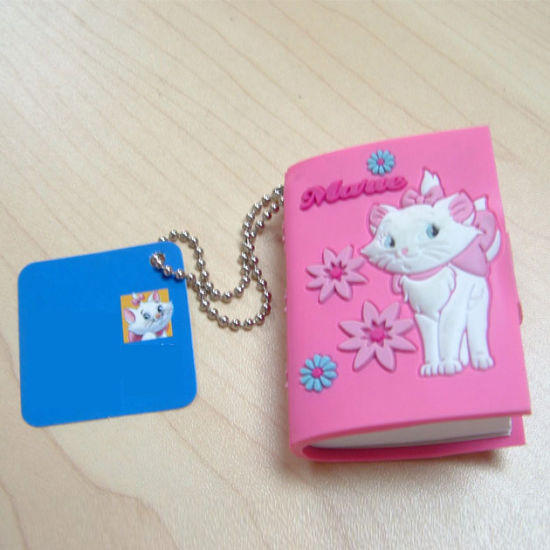 High Quality Chocolate Shaped Soft PVC Cover Notebook (NB-002)