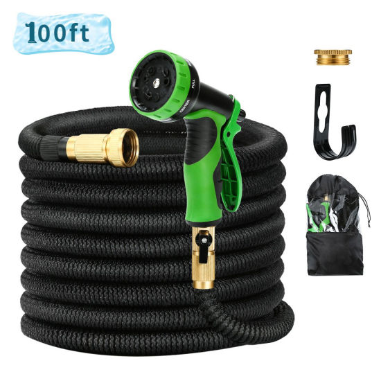 100FT Heavy Duty Expandable Garden Hose Set. Sell Best in The Amazon.